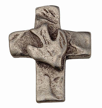 Picture of Cross Dove Pewter Pin
