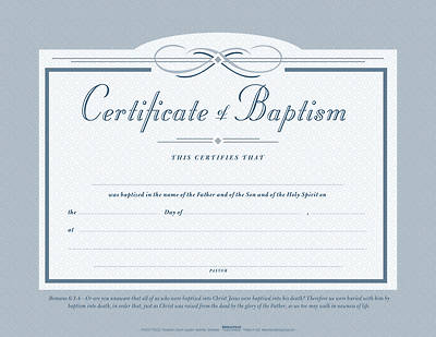 Picture of Flat Baptism Certificate