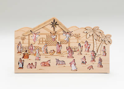 "Picture of Advent Calendar Laser Cut Wood 8.25""H X 14""W"